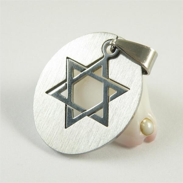 Wholesale 2 in 1 stainless steel silver jewish star of for Star of david jewelry wholesale
