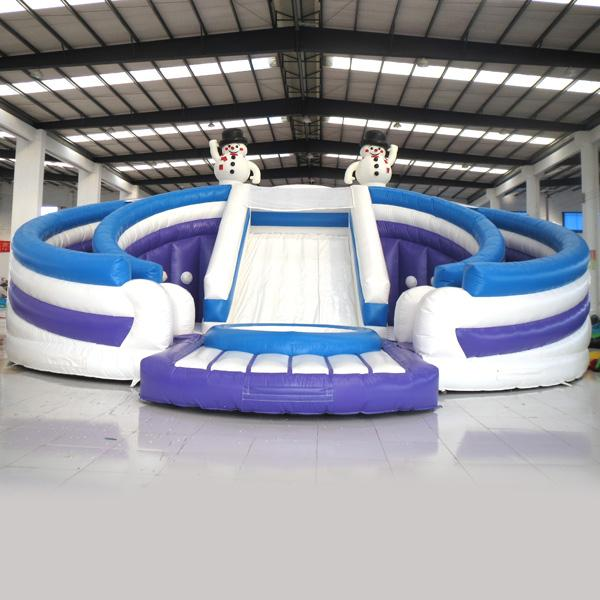 Inflatable Water Slide China: 2017 Aoqi Inflatable Water Slide Inflatable Snowman Double