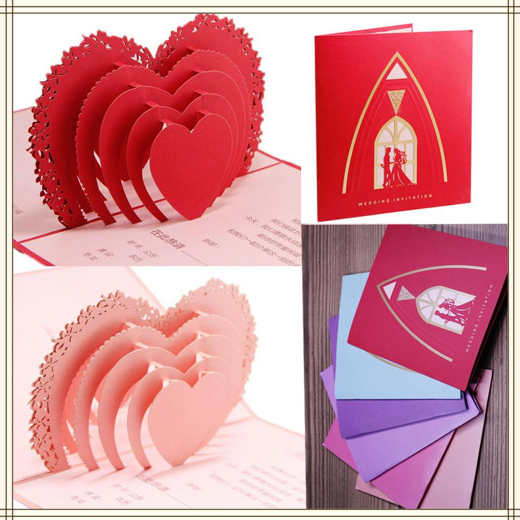 2015 New Arrival 3d Hand Made Card Sweetheart Laser Cut 250g Pearl – Custom Made Invitation Cards