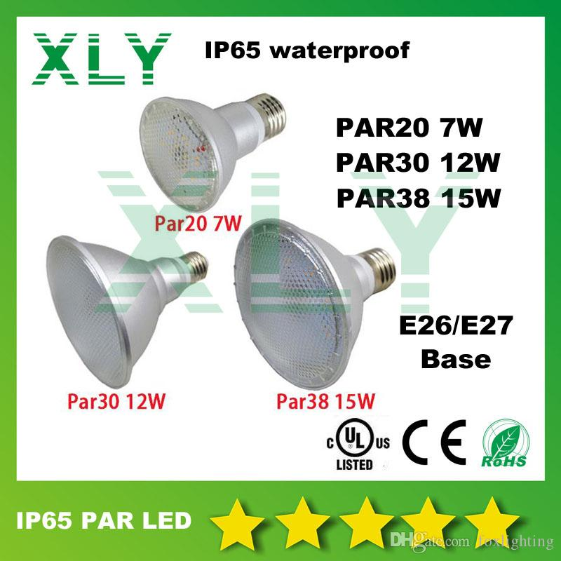 DHL FEDEX PAR20 PAR30 PAR38 étanche IP65 120 degrés 7W 12W 15W Led Spot Light Am