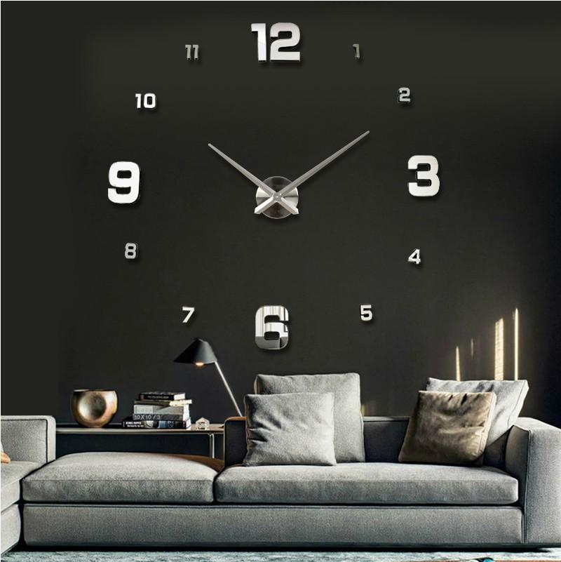 large size diy wall clockbig size simple mirror digital numbers wall stickers clockunique home decor decoration modern design round wall clocks large big unique diy wall clocks