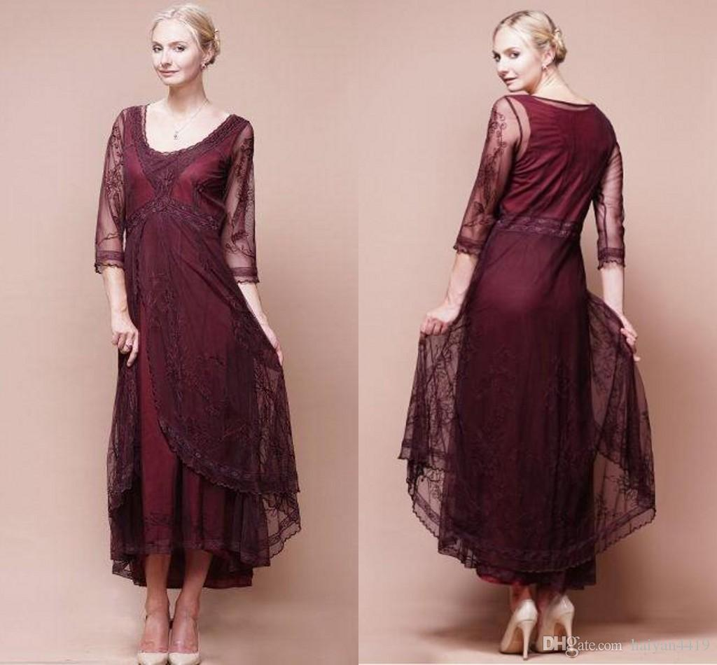 2016 sexy mother of the bride dresses v neck burgundy for Sexy wedding guest dress