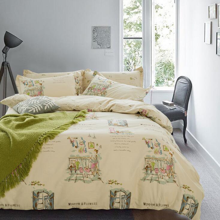 2016 pastoral cotton bedding set quilted quvet cover bed sheet set kids children adults twin. Black Bedroom Furniture Sets. Home Design Ideas