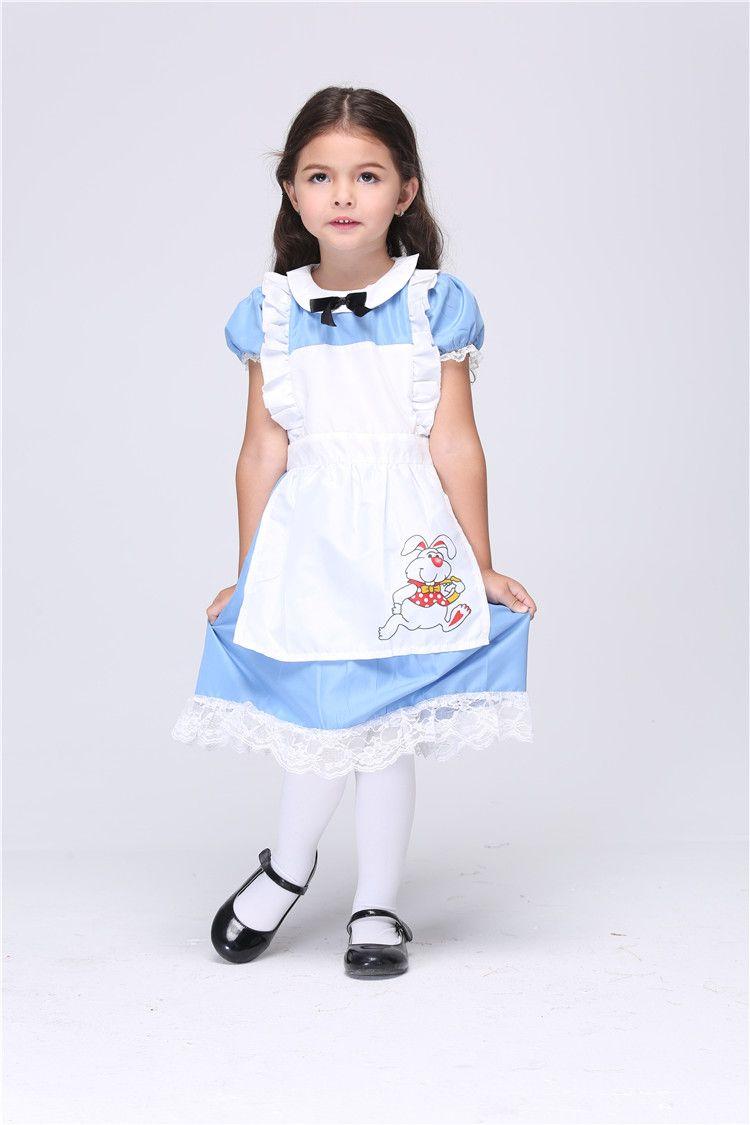 Blue apron dress - See Larger Image