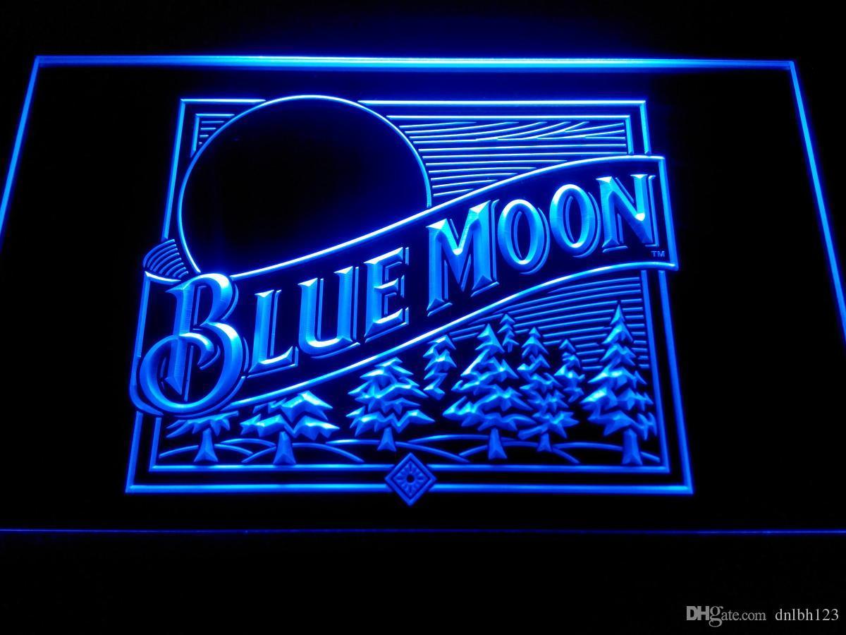 2017 Blue Moon Beer Bar Pub Logo Neon Light Sign Le167b