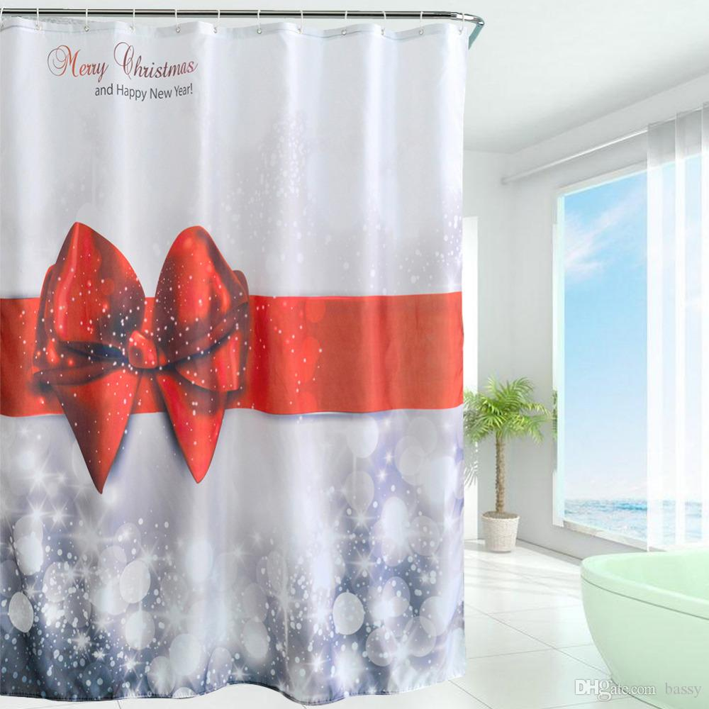 New Arrival 2016 Waterproof Christmas Polyester Shower