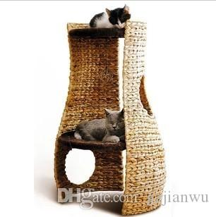 Hot!natural Banana Leaf Cat Scratching Tree Cat Tree Cat Toy Pet Product Cat  House Cat Bed Cat Furniture Cat Cave Online With $81.97/Piece On Gzjianwuu0027s  ...