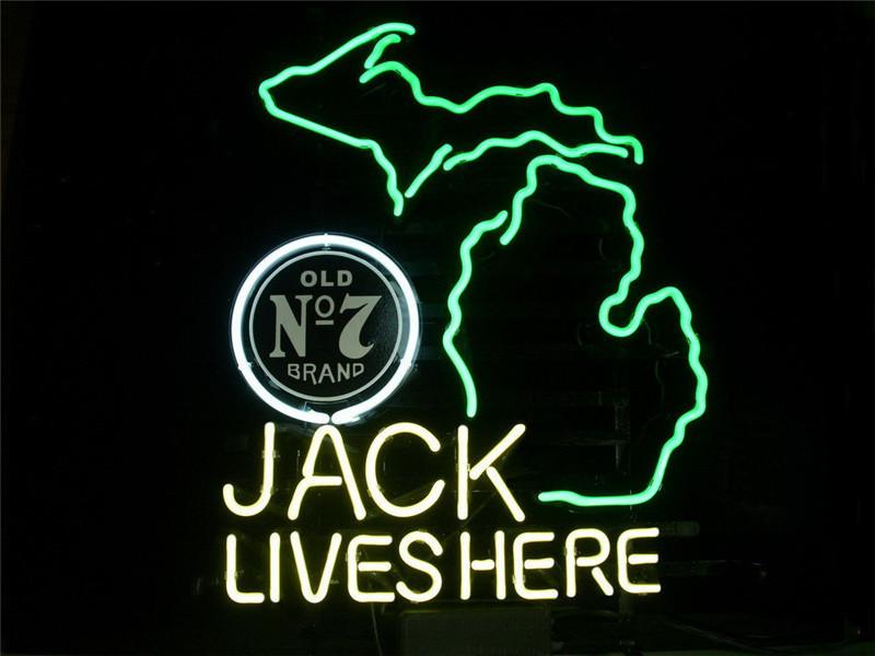 Online Cheap Neon Sign For Jack Daniels Lives Here