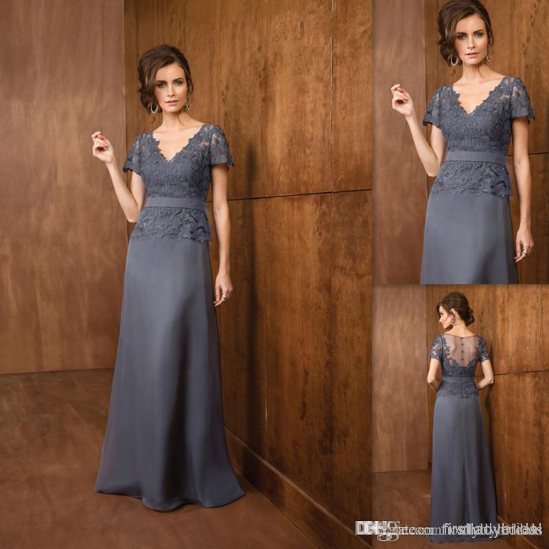 Couture Gray Mother Of The Bride Dresses Grooms Chiffon