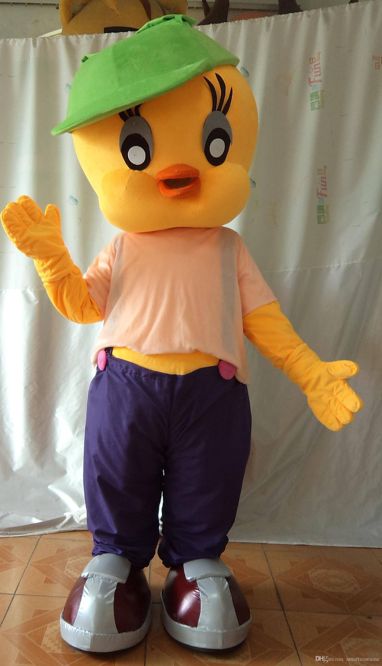 Sx0723 light and easy to wear a tweety mascot costume with for Fish onesie for adults