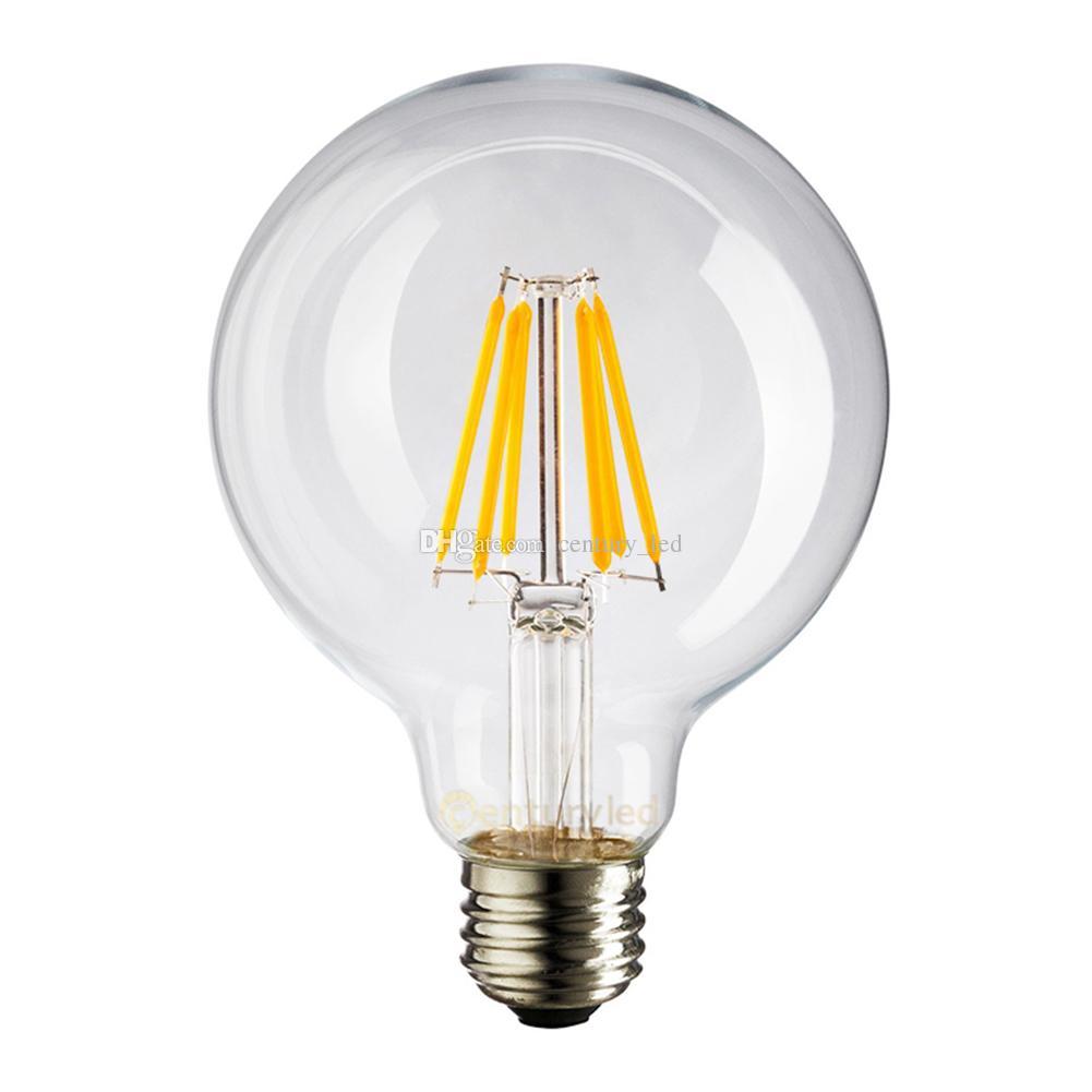 4w 6w globe g80 lamp edison led filament bulb e27 e26 base shape cool warm white dimmable g80. Black Bedroom Furniture Sets. Home Design Ideas