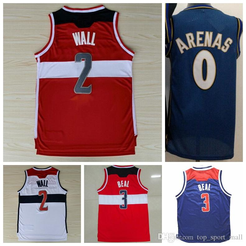 New Fashion 0 Gilbert Arenas Throwback Jerseys Uniformes 2 John Wall 42 Nene Hil