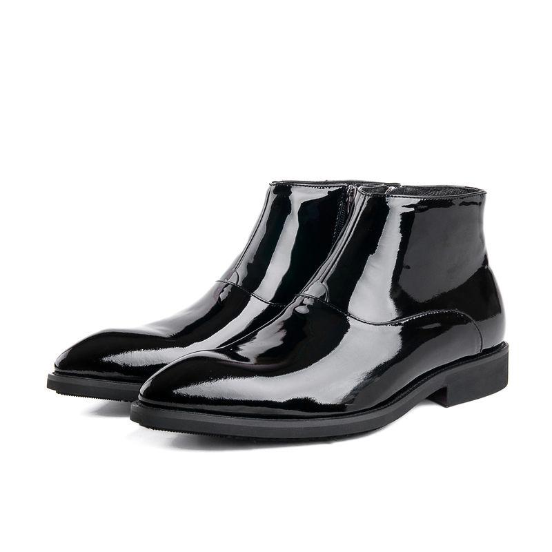 Discount Mens Shiny Black Dress Shoes | 2017 Mens Shiny Black ...