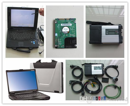 Diagnostic tool mb star c5 with laptop cf52 touch screen for Mercedes benz computer diagnostic tool