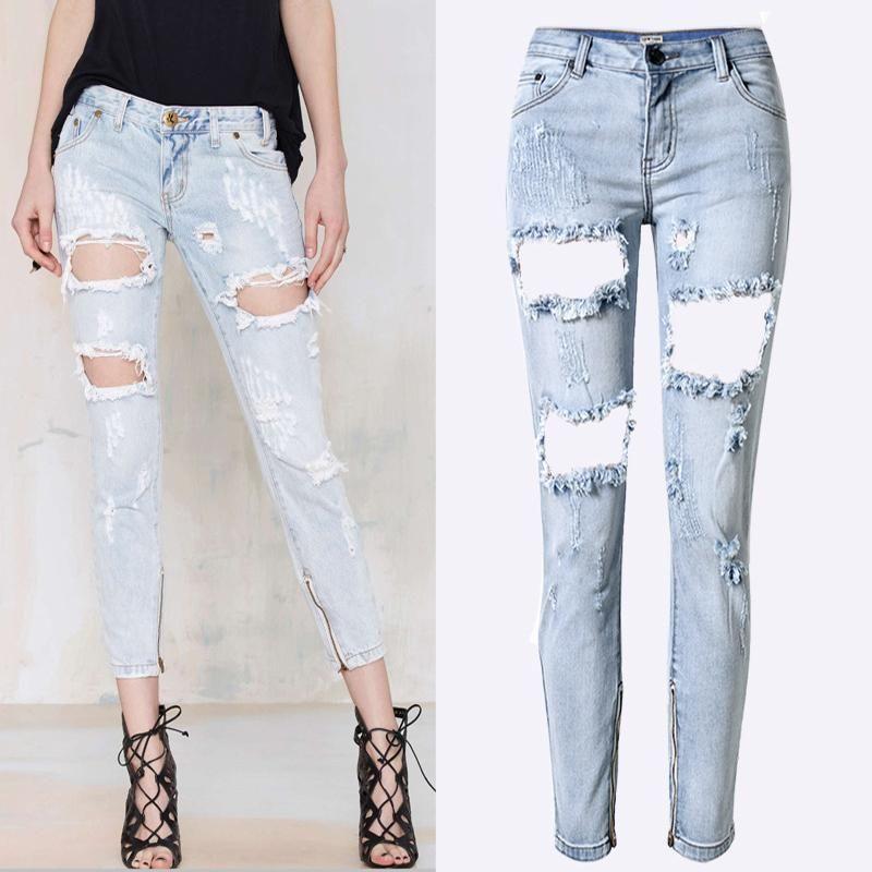 Discount Women Plus Size Popular Jeans | 2017 Women Plus Size ...