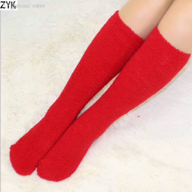 Wholesale-Soft women cheap Fuzzy Socks Warm Air conditioning socks thick  Slipper Cozy Socks Korean - 2017 Wholesale Soft Women Cheap Fuzzy Socks Warm Air Conditioning