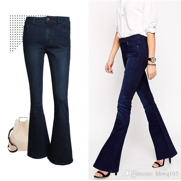 2017 Fashion Women Flare Jeans Vintage Washed Denim Jeans Ladies ...