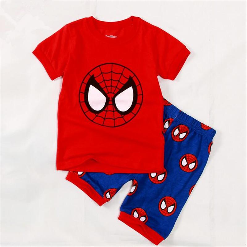 2016 New Baby Boys Pajamas For Summer Short Sleeve Trouser O Neck ...