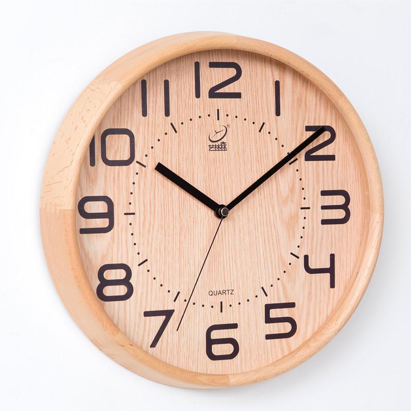 The Nordic Village Wood Clock Living Room Modern Minimalist Wooden – Minimalist Wall Clock