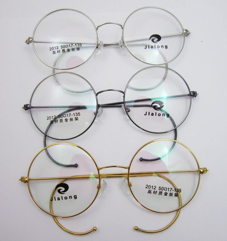 antique vintage round gold silver gray wire rim glasses rx eyeglass frames spectacles prescription optical