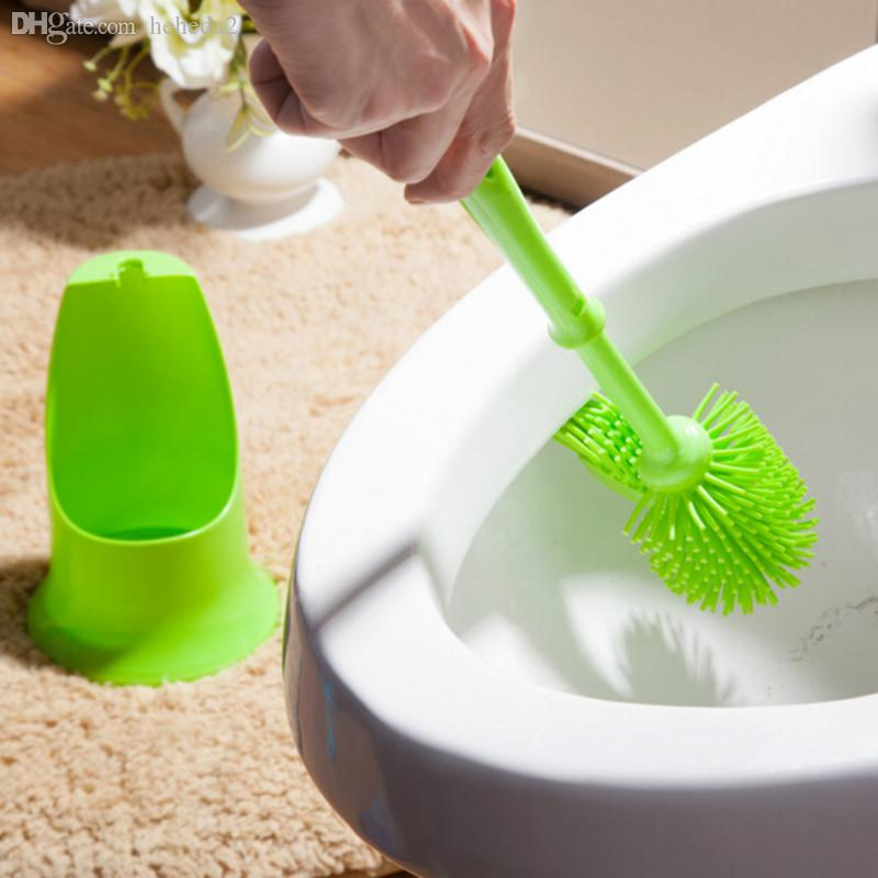 Wholesale Bathroom toilet brush Scrubber Double head Brushs holder Effect cleaning inwall groove dirt 2. 2017 Wholesale Bathroom Toilet Brush Scrubber Double Head Brushs