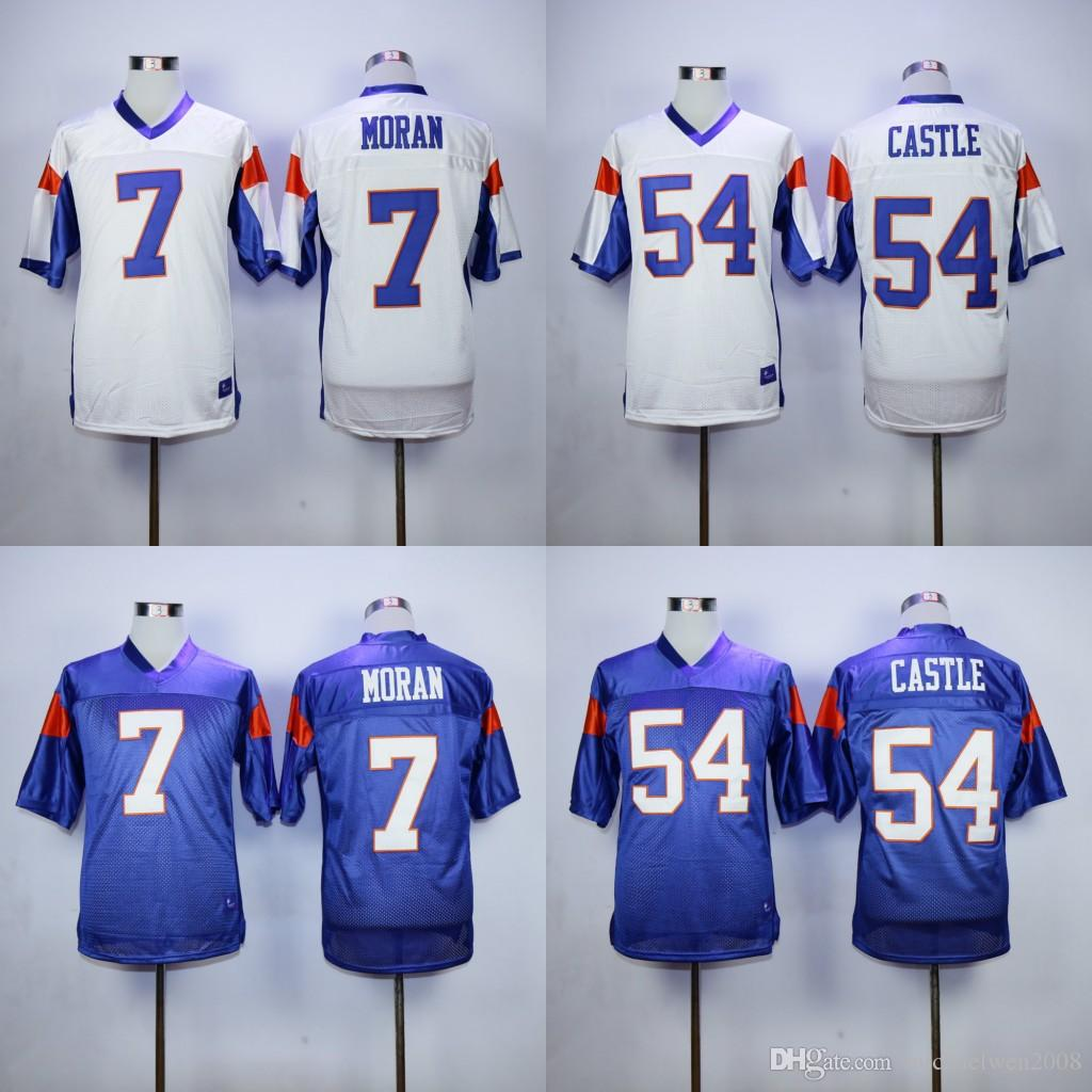 # 7 Alex MORAN Jersey, Blue Mountain State Movie Jersey # 54 Kevin Thad CASTLE H