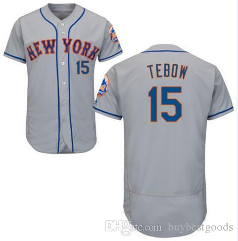2016 Maillots New York Mets Hommes # 15 Tim Tebow Maillot à base personnalisée p