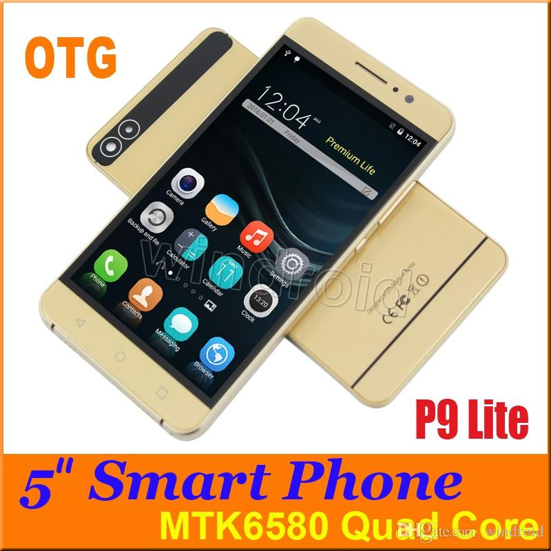 5 pouces Quad Core MTK6580 Android 5.1 Smart Phone Dual SIM cam Wifi 512M 4 Go 9