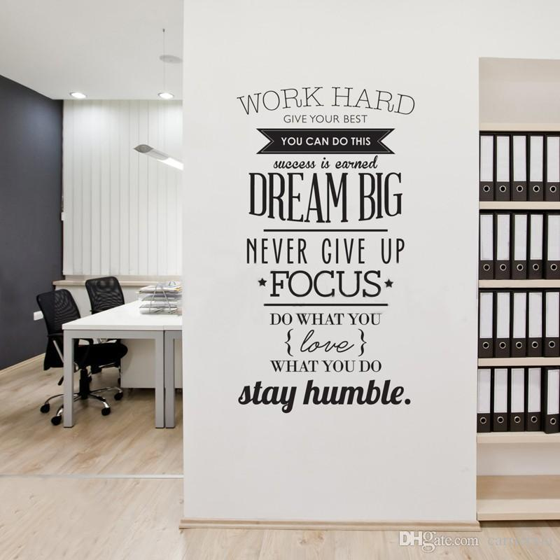 ... Sticker Letters For Wall Large Size Work Quote Wall Decal Pvc Three  Colors Enlish Part 93