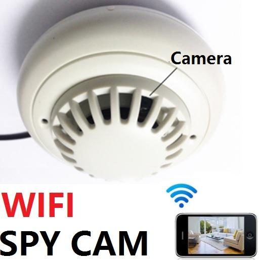 2017 hd security ip camera wifi wireless smoke detector remote anti theft spy. Black Bedroom Furniture Sets. Home Design Ideas