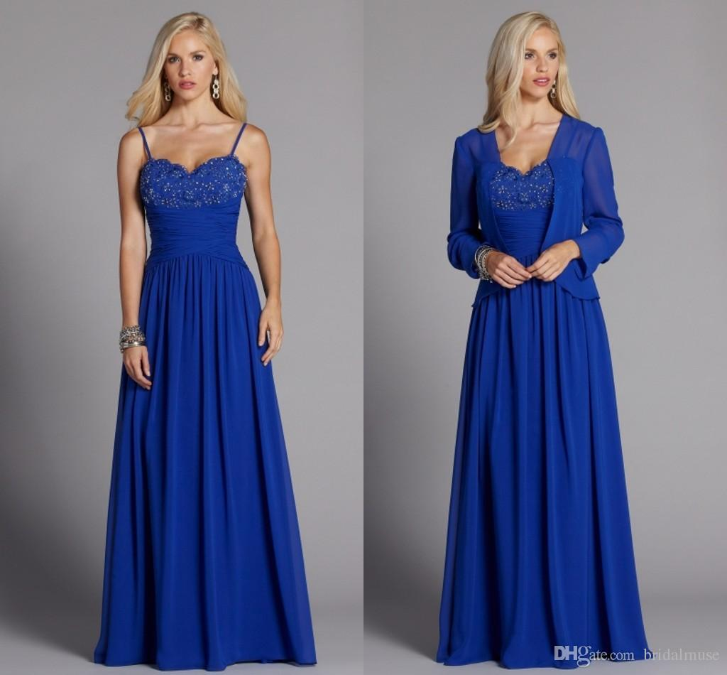 Royal Blue Plus Size Mother The Groom Bride Dresses A