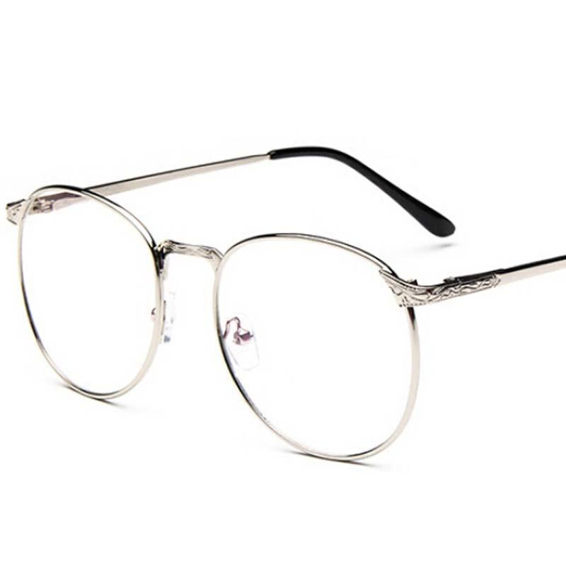 vintage unisex retro stars round metal frame clear lens glasses optical spectacles full metal framed glasses