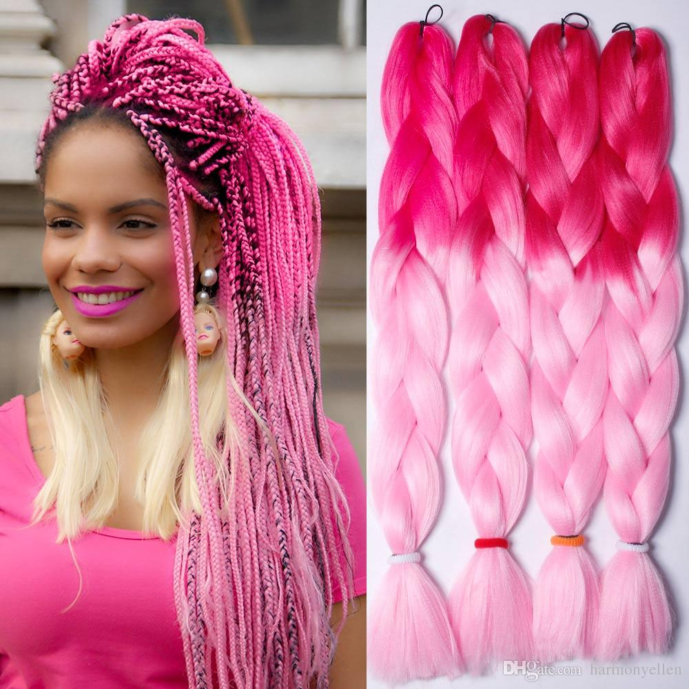 64inch 165gram Ombre Color Synthetic Jumbo Braiding Twist Hair ...