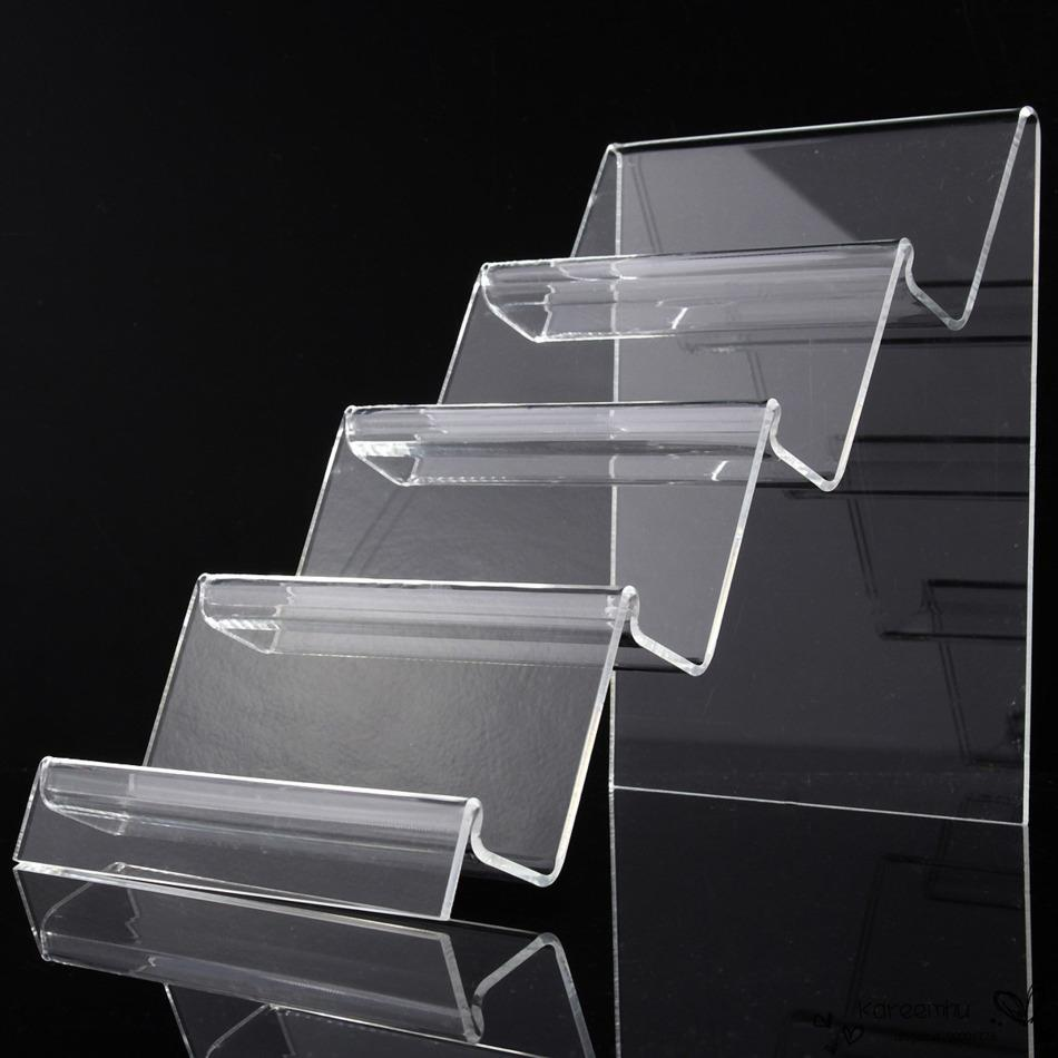 Acrylic Stand Designs : New arrive layers clear acrylic display case shelf