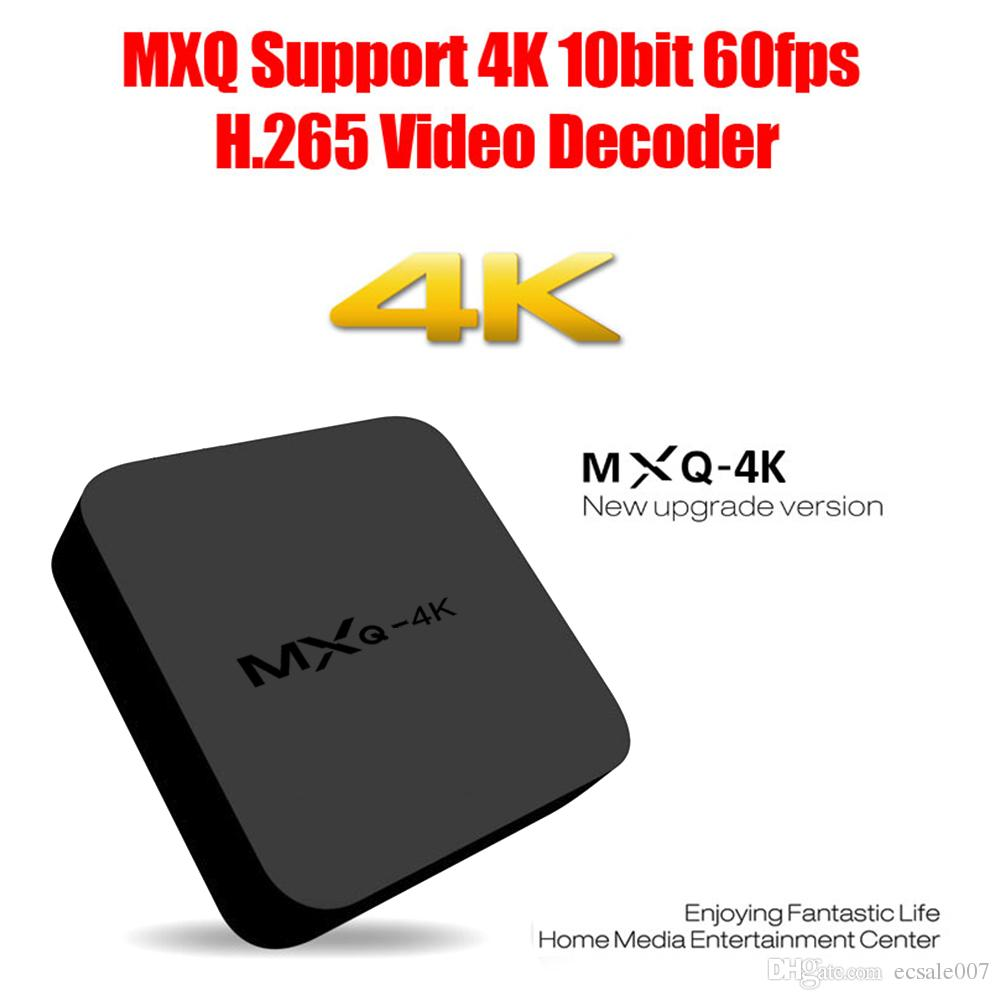 Hot TV MXQ-4K Android TV Box RK3229 Chipset Quad Core 1 + 8 Go KD Entièrement ch