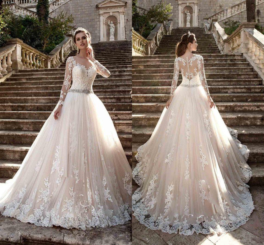 Discount 2017 New Long Sleeves Vintage Wedding Dresses