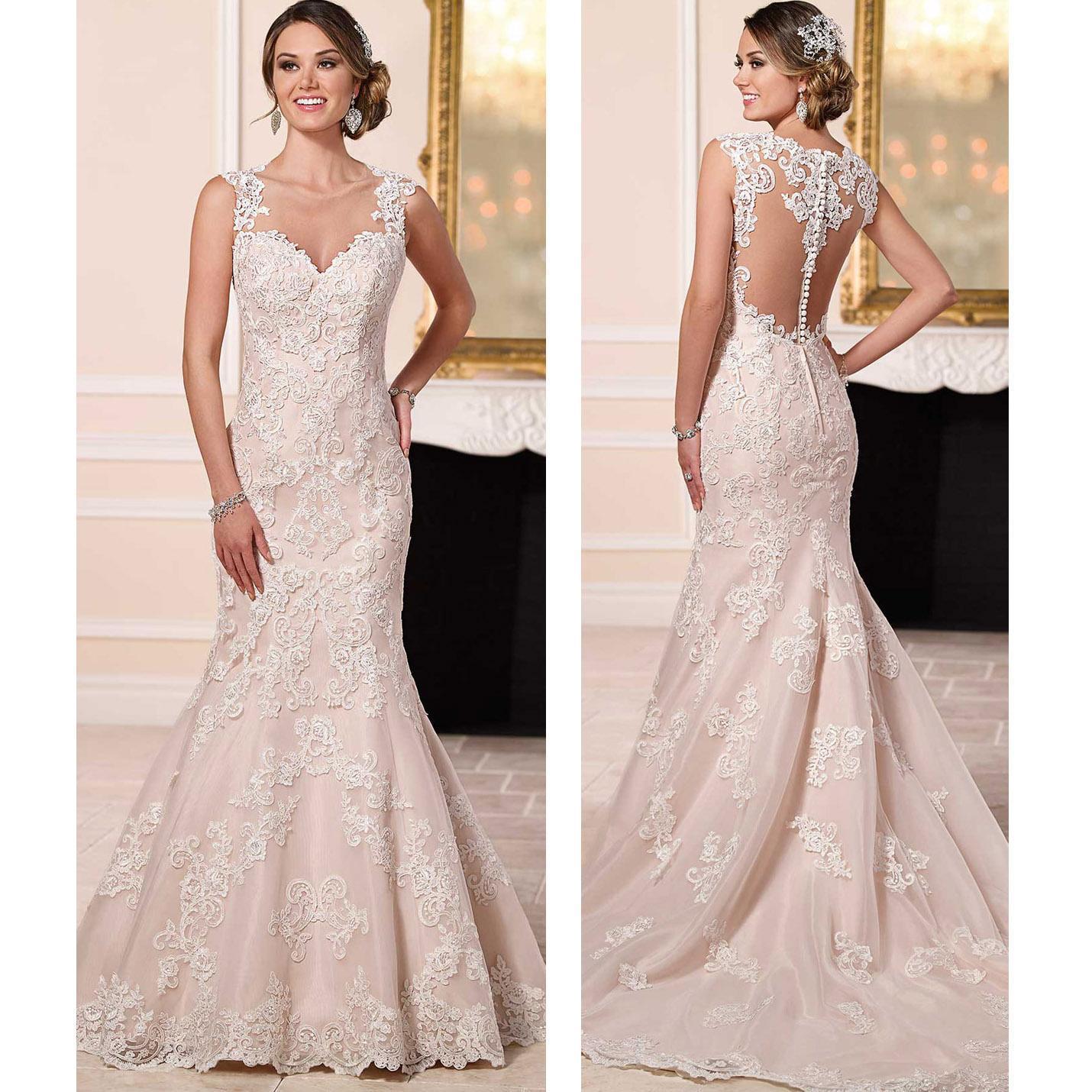 Stella york sexy lace wedding dresses 2016 mermaid for Dhgate wedding dresses 2016
