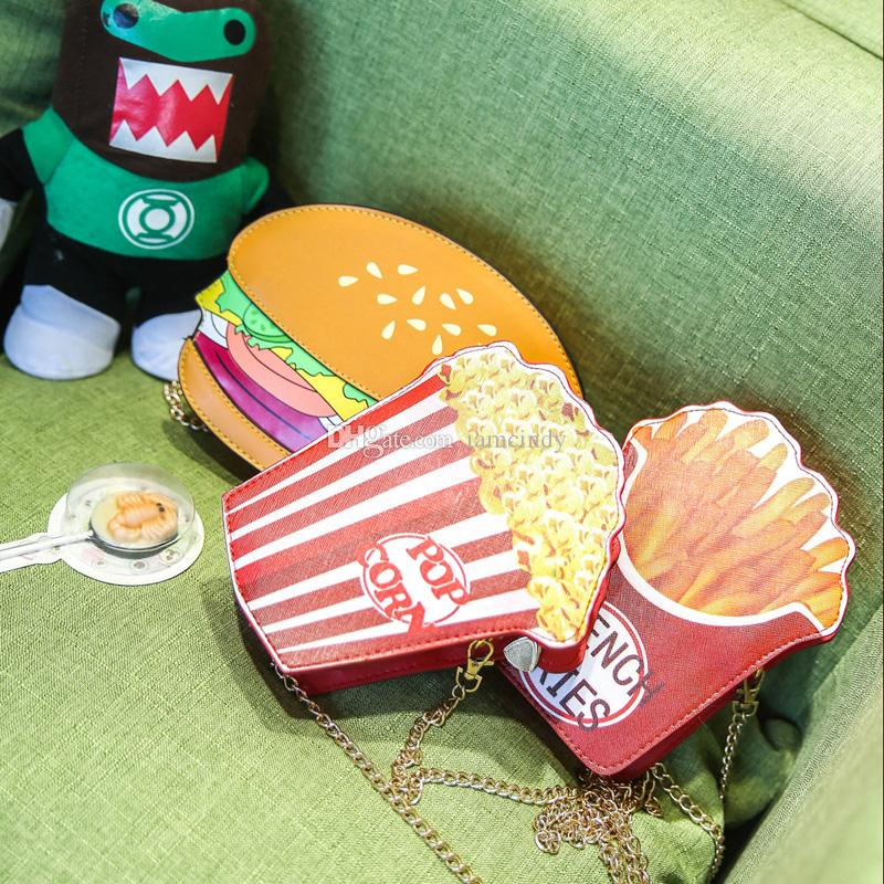 Wholesale Brand New Fashion Burger Popcorn Fries Shoulder Bag ...