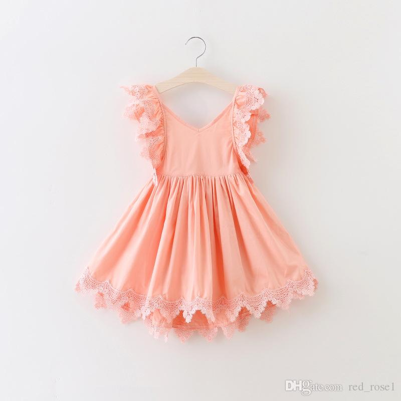 2017 2017 Baby Girl Kids Party Dress Girl Lace Sweet Dress ...
