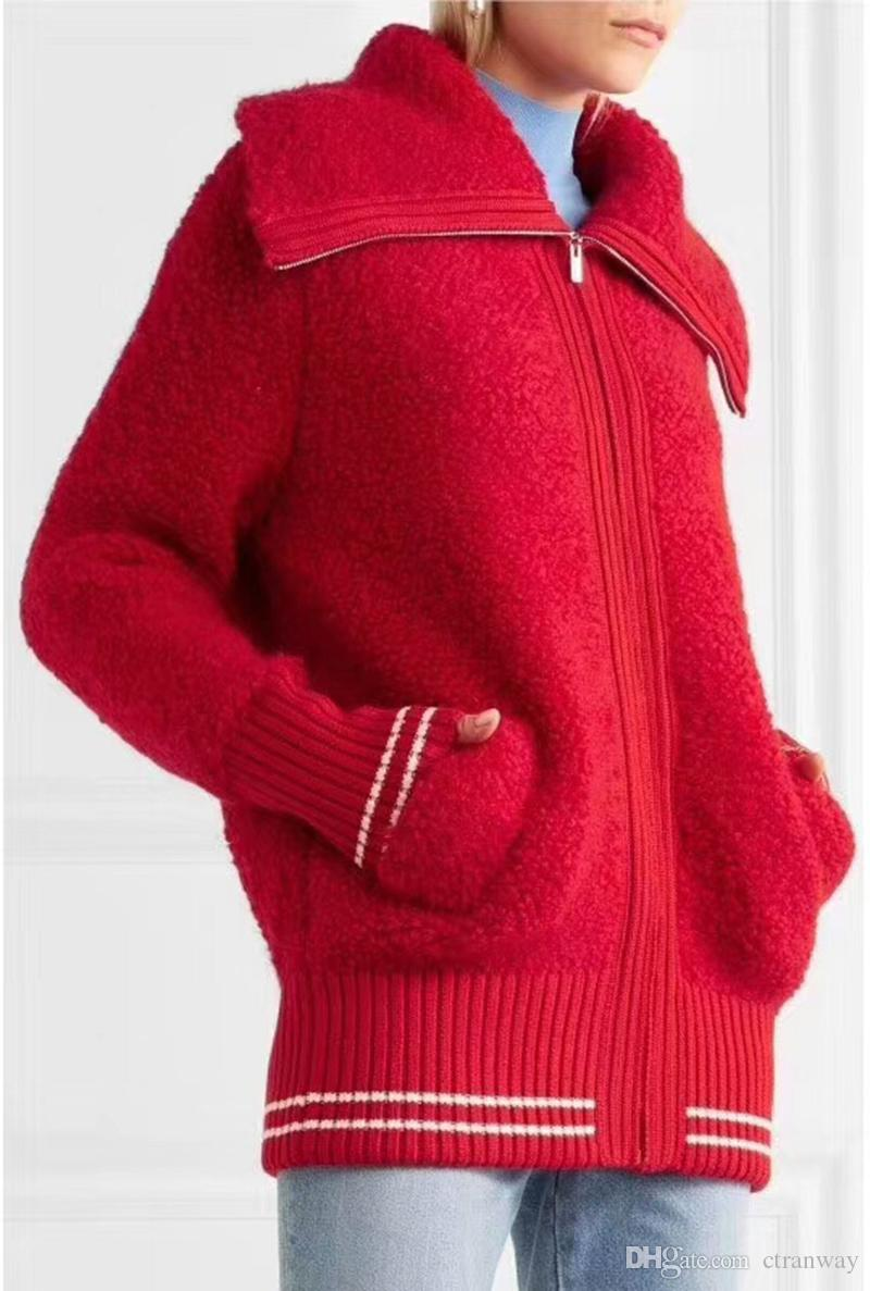 Red Sweater Collar Types 2017 Women Long Sleeve Sweater Cardigan ...