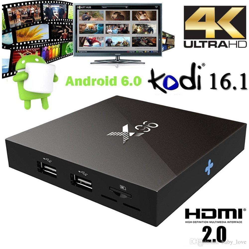 X96 4K Smart TV BOX Android 6.0 Amlogic S905X Quad Core H.265 Media Player KODI