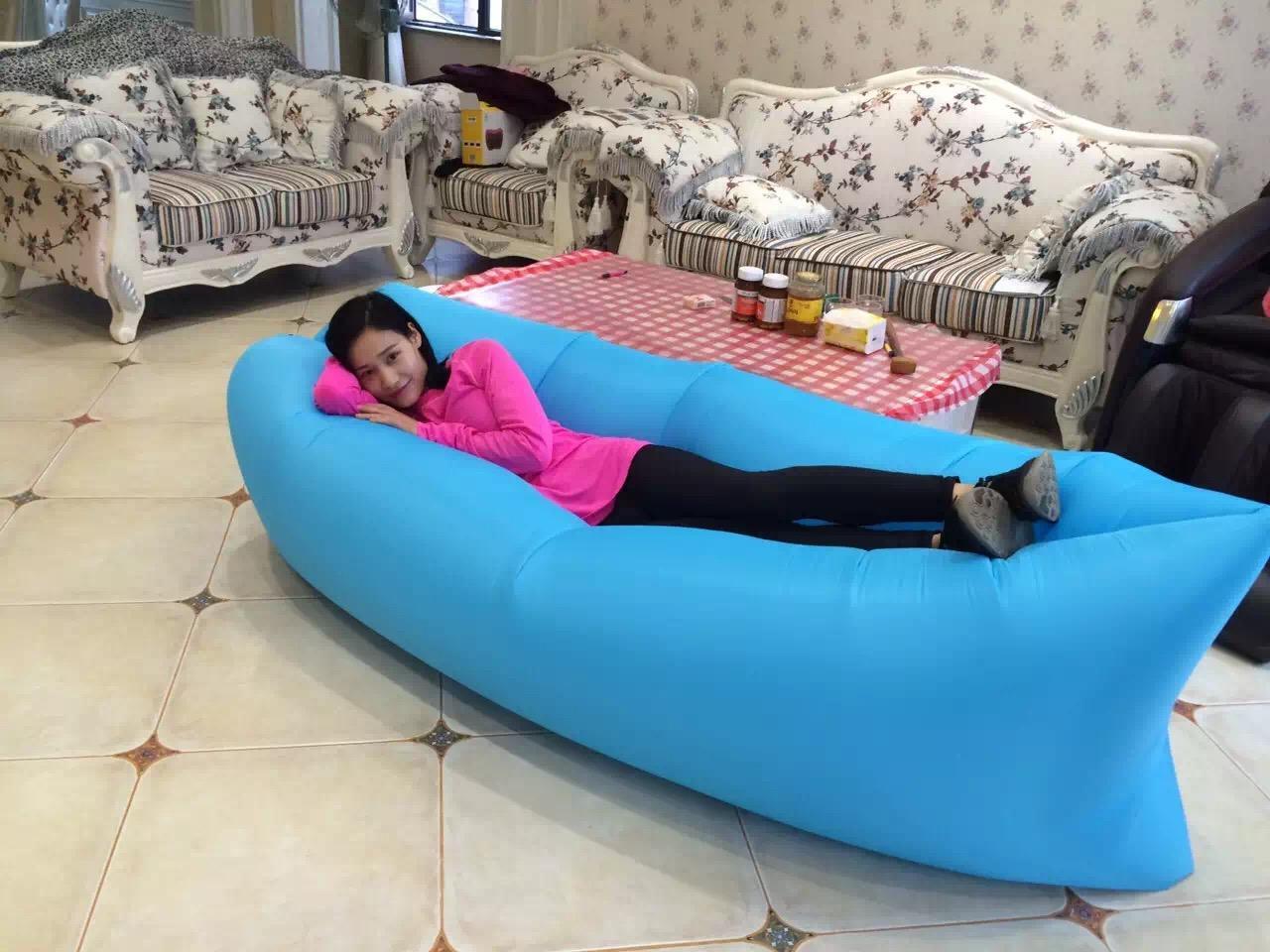 Lamzac hangout fast inflatable air sleep camping bed beach for Sofa hinchable lamzac