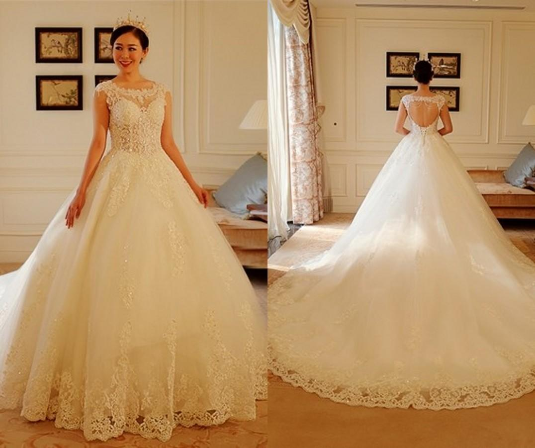 Discount Luxury Lace Sweetheart Wedding Dresses 2016