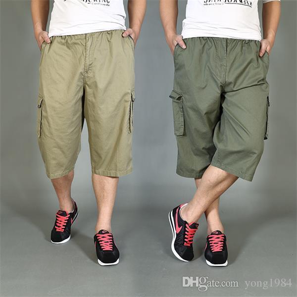 summer style herren cargo shorts men 39 s quality capri pants plus size 6xl new arrival man board. Black Bedroom Furniture Sets. Home Design Ideas