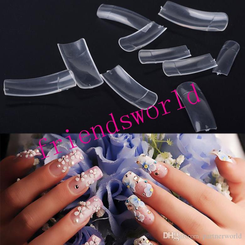 Half Well Nail Tips: Dhl Fedex 500 Clear Color Nails Tips French Color Tips