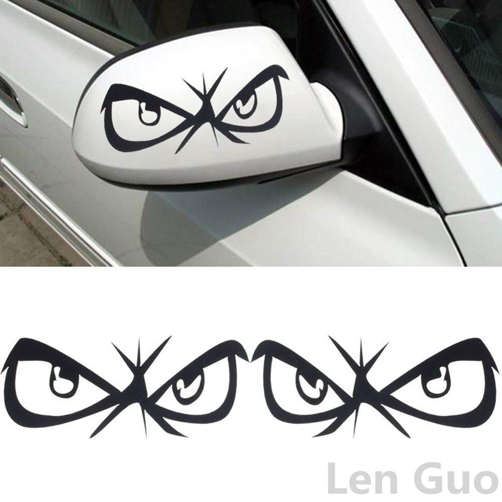 Car mirror sticker design - Excellent New 3d Car Styling Funny Rearview Mirrors Animation Eyes Stickers Brand Car Styling