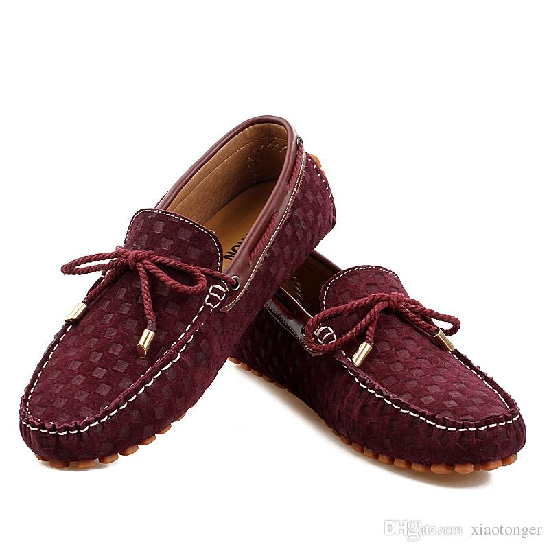 Fashion Design High Quality Men Boat Shoes Genuine Leather Slip On ...