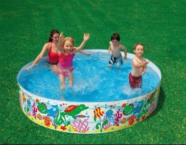 2018 large hard plastic children paddling pool family for Piscina plastico duro