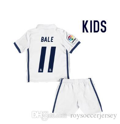 Top thailande chemise Real madrides 2016 2017 Maillot enfant maillot de football