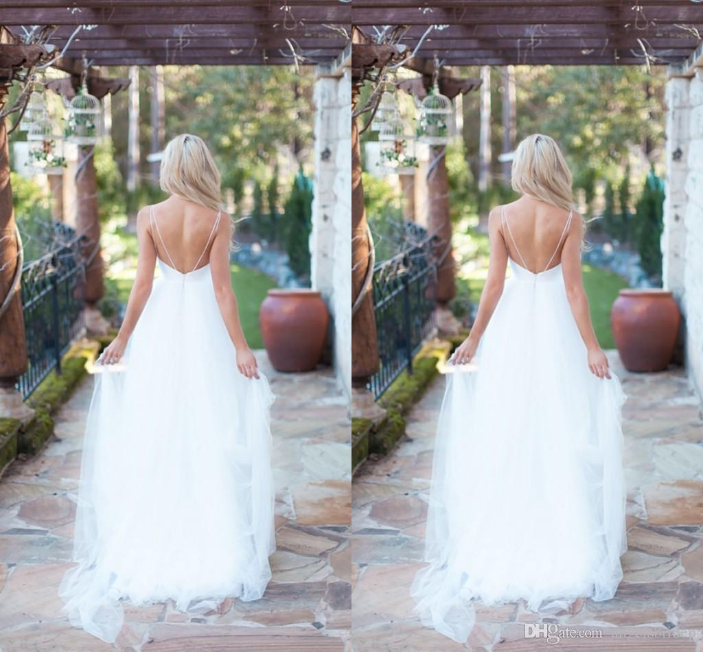 Discount beautiful boho wedding dresses affordable a line for Affordable boho wedding dresses